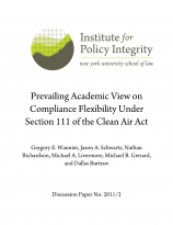 Prevailing Academic View on Compliance Flexibility under Section 111 of the Clean Air Act