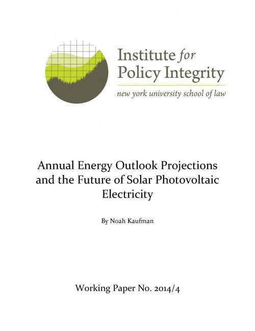 Annual Energy Outlook Projections and the Future of Solar PV Electricity