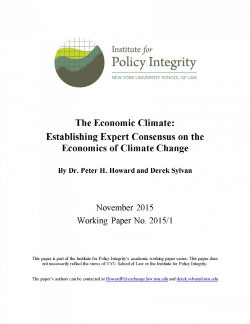 The Economic Climate Cover