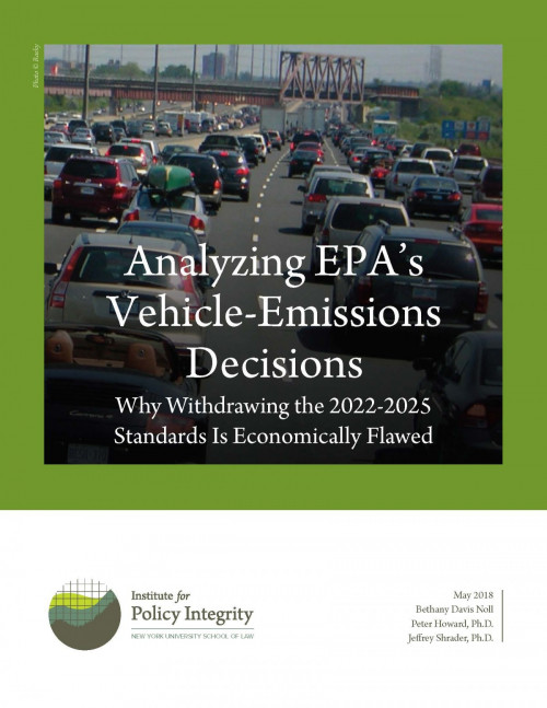 Analyzing EPA's Vehicle-Emissions Decisions