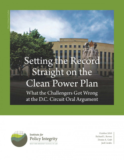 Setting the Record Straight on the Clean Power Plan Cover