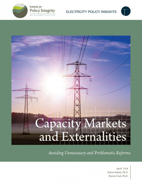 Capacity Markets and Externalities Cover