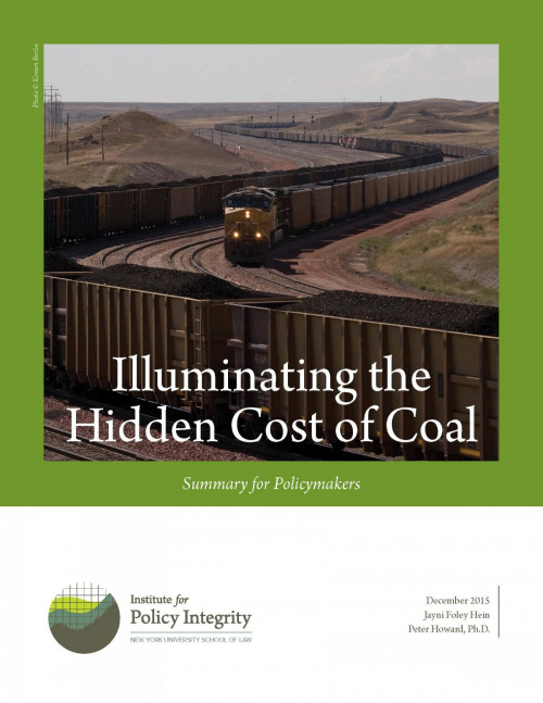 Illuminating the Hidden Costs of Coal (Summary for Policymakers)