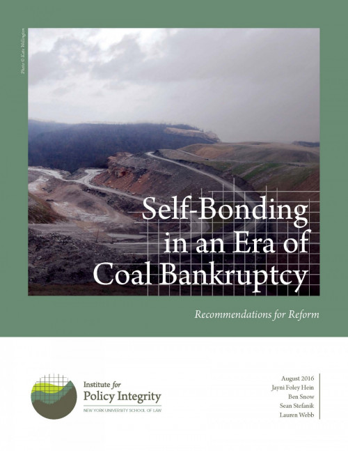 Self-Bonding in an Era of Coal Bankruptcy Cover