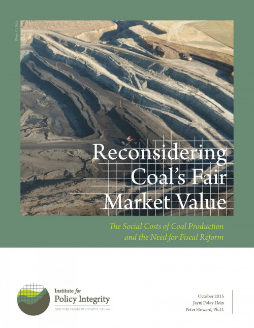 Reconsidering Coal's Fair Market Value