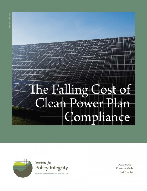 The Falling Cost of Clean Power Plan Compliance Cover