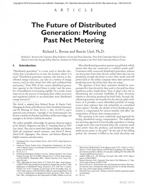 The Future of Distributed Generation