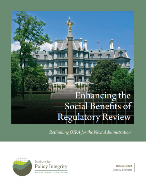 Enhancing the Social Benefits of Regulatory Review Cover