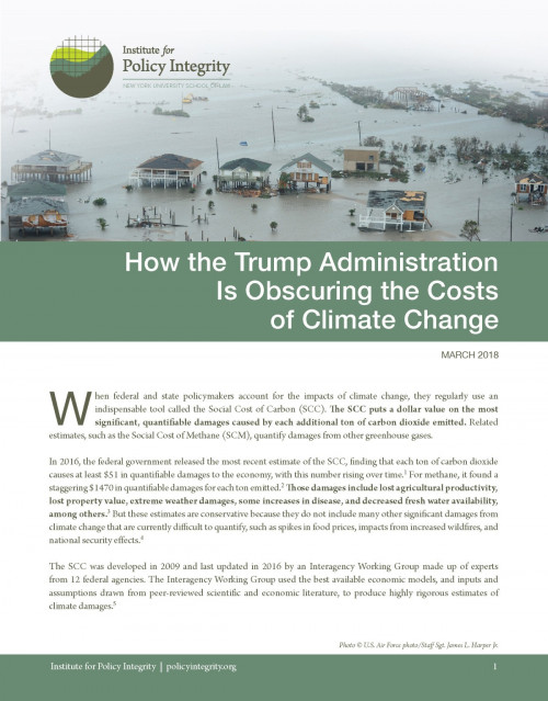 How the Trump Administration Is Obscuring the Costs of Climate Change