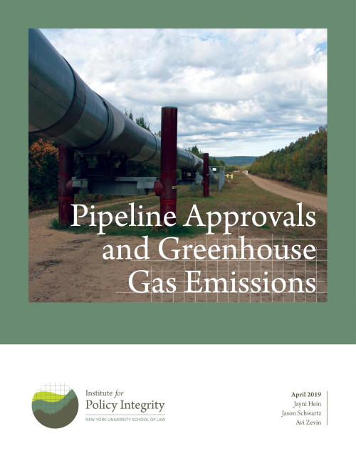 Pipeline Approvals and Greenhouse Gas Emissions Cover