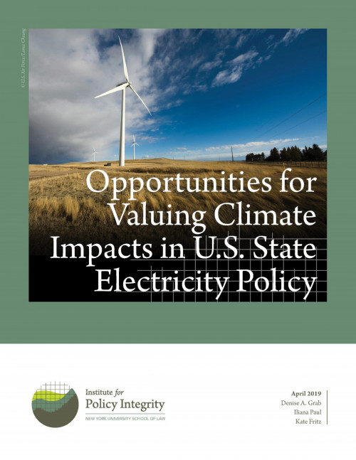 Opportunities for Valuing Climate Impacts in U.S. State Electricity Policy