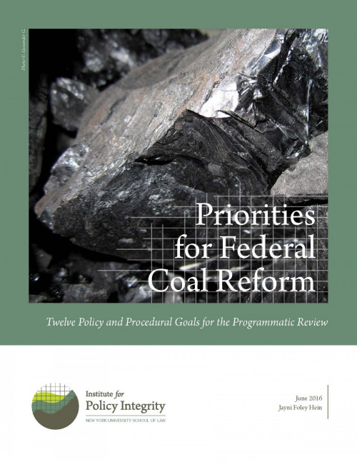 Priorities for Federal Coal Reform