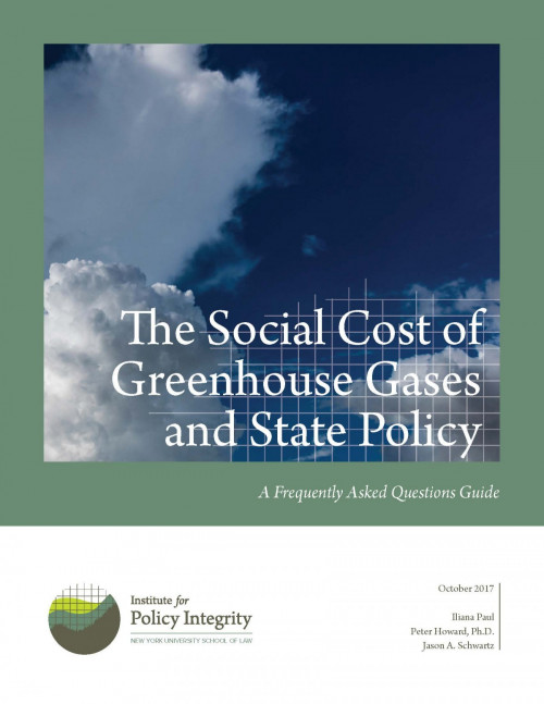 The Social Cost of Greenhouse Gases and State Policy