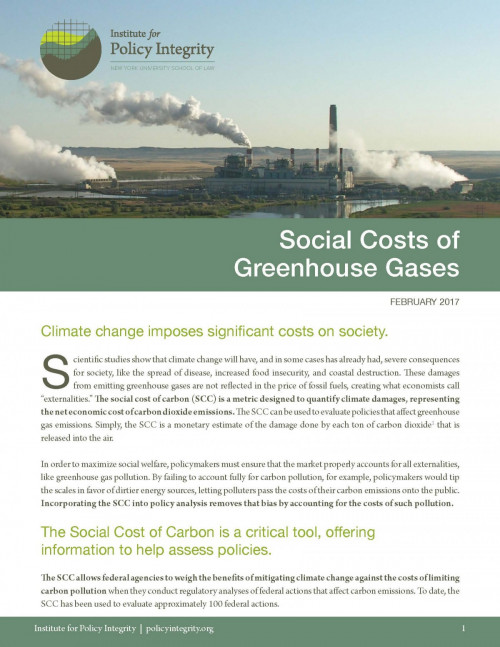 Social Costs of Greenhouse Gases