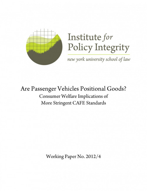 Are Passenger Vehicles Positional Goods?
