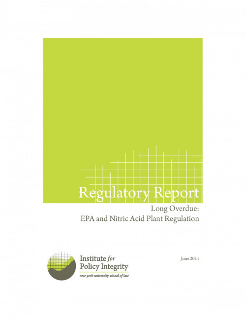 Long Overdue: EPA and Nitric Acid Plant Regulation Cover