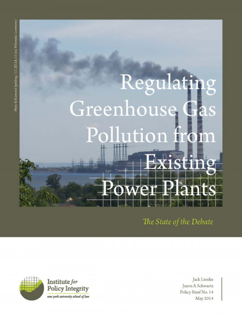 Regulating Greenhouse Gas Pollution from Existing Power Plants Cover