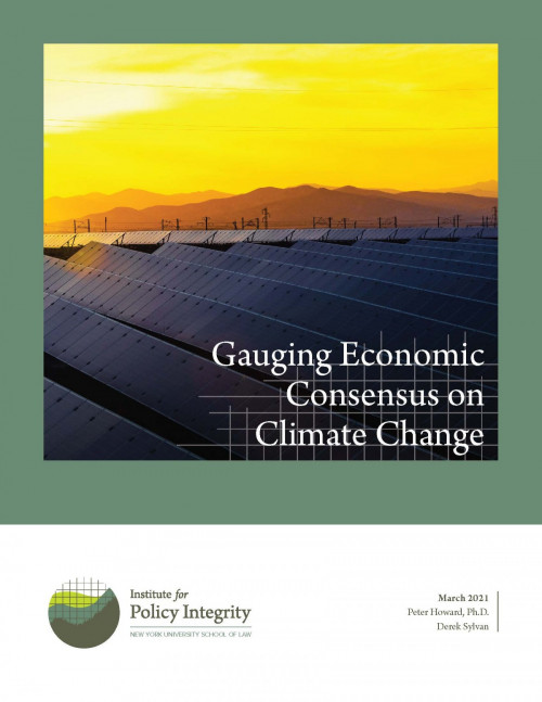 Gauging Economic Consensus on Climate Change Cover