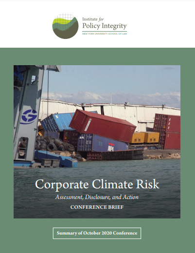 Corporate Climate Risk: Assessment, Disclosure, and Action Cover