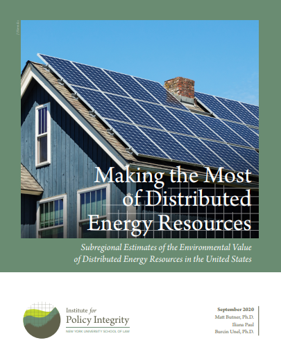 Making the Most of Distributed Energy Resources Cover