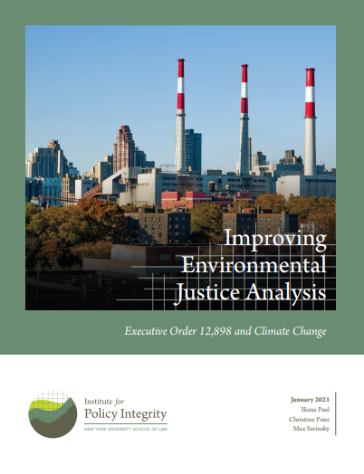 Improving Environmental Justice Analysis Cover