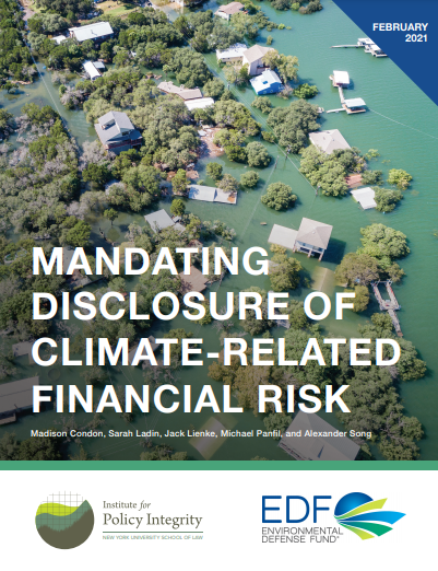 Mandating Disclosure of Climate-Related Financial Risk Cover