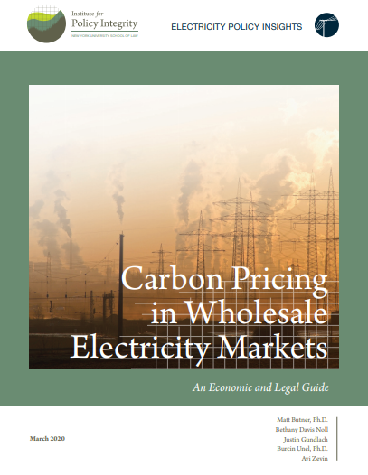 Carbon Pricing in Wholesale Electricity Markets Cover