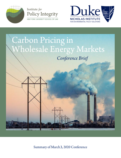 Carbon Pricing in Wholesale Energy Markets