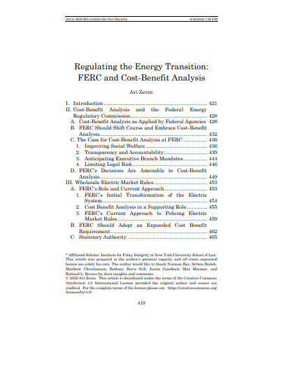 Regulating the Energy Transition Cover